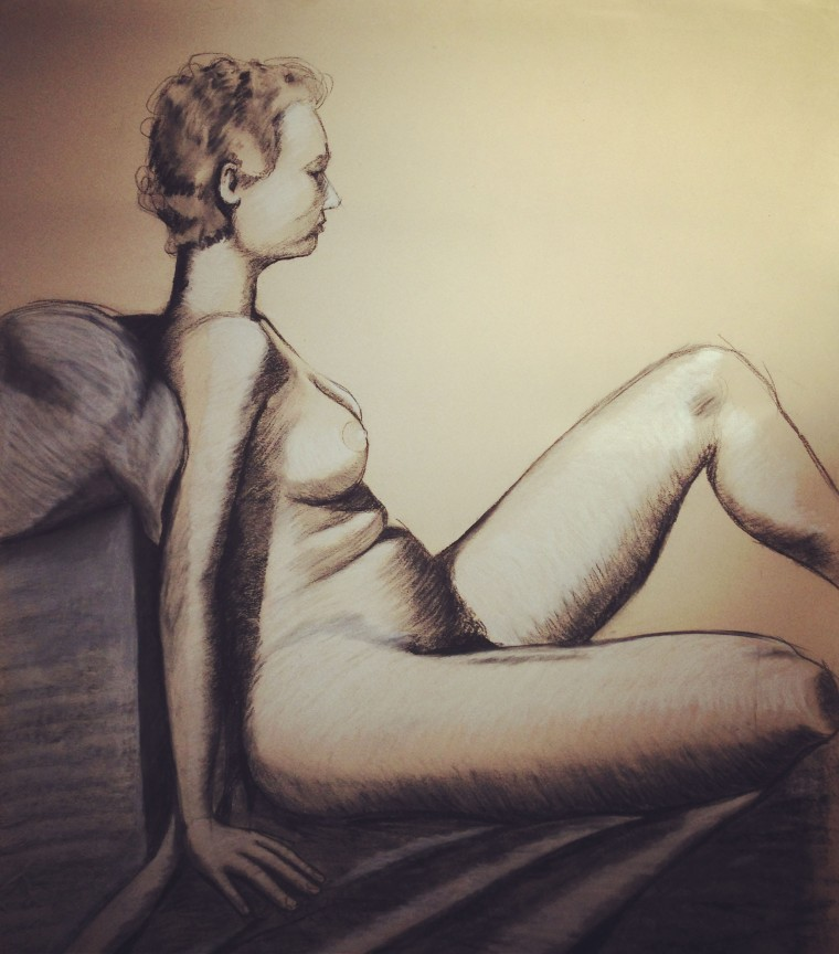 Charcoal on brown paper, circa 1988